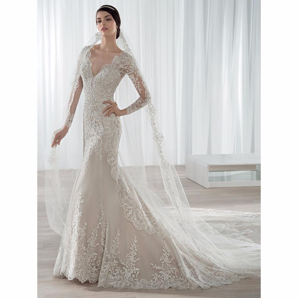 Hot Sale Vestidos de Noiva Customed beautiful Ivory Vintage Wedding Dress No Vintage Wedding Dress Model With Open Back(China (Mainland))