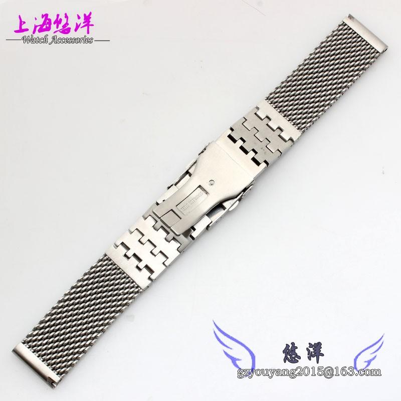 Сетка из нержавеющей стали часы мужские ремень металлический браслет 24 мм мужская нержавеющей стали ремешки