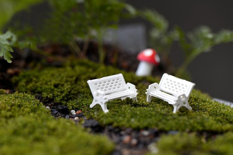 sale~1Pcs/white chair/doll house//miniatures/lovely cute/fairy garden gnome/moss terrarium decor/crafts/bonsai/ DIY/c074(China (Mainland))