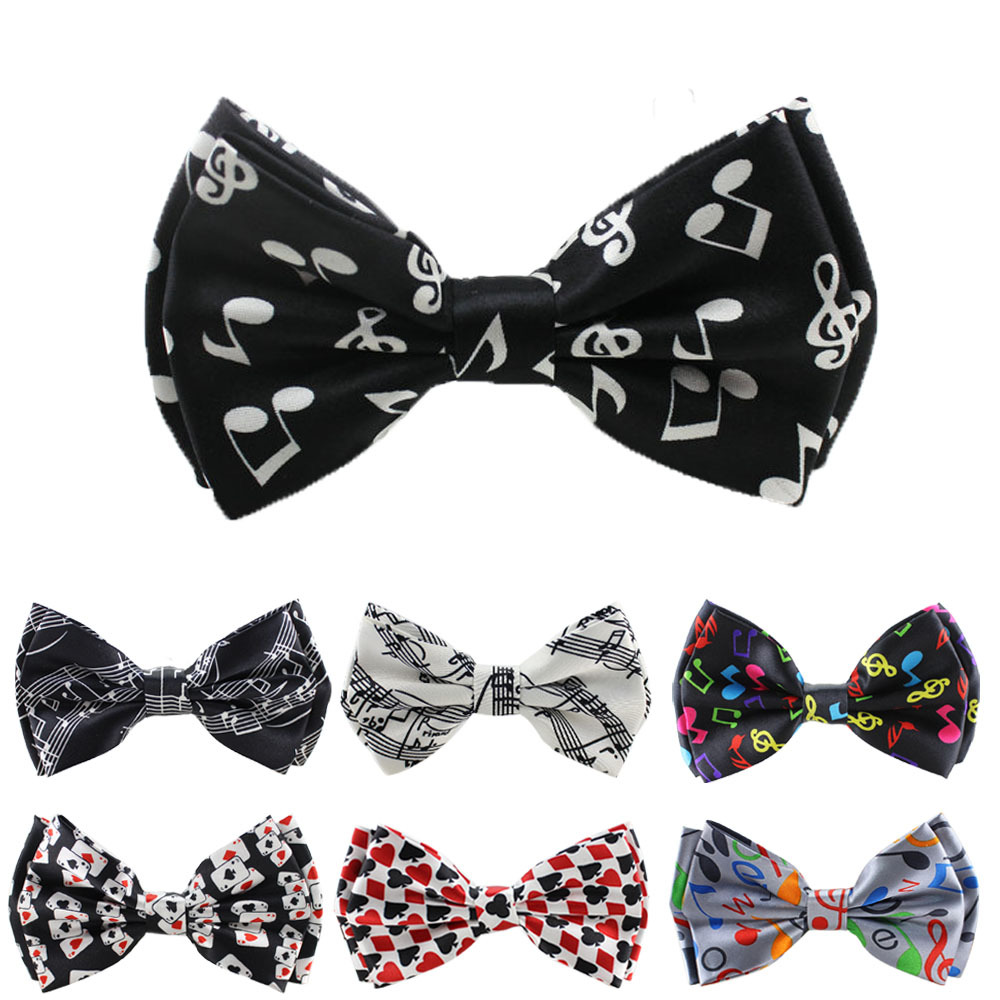 Retail now fashion music Pattern two-layer Bow tie for Men Men's Unisex Tuxedo Dress Bowtie / Butterfly Brand New(China (Mainland))