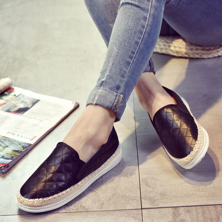 Women's Leather Loafers Spring Summer 2016 Breathable  Sewing Comfortable Flat Shoes Women Mocassin Femme 5313
