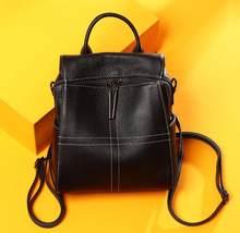 Múltiplos modos de multifuncionais Mulheres bolsa do couro genuíno Tote Bolsa feminina fashion designer senhoras ombro saco crossbody(China)