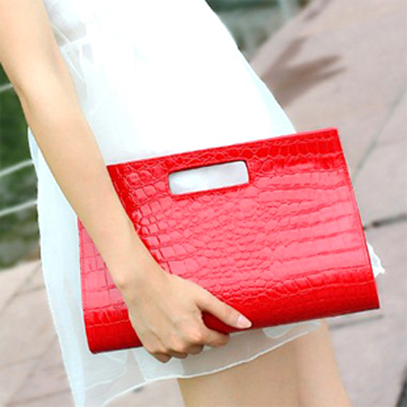 Discount Women's summer PU leather crocodile clutch handbag shoulder bag ladies party night with bags of pocket(China (Mainland))