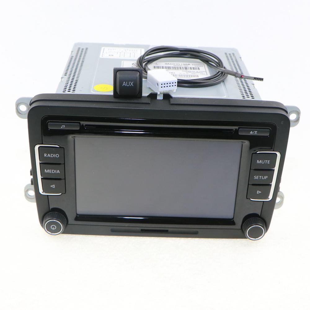 OEM VW Car Radio RCD510 Code Reverse-Image+AUX Surface Cap Housing+Cable CD MP3 Jetta Golf MK5 MK6 Passat B6 3AD 035 190A - Jinxin Auto Parts Co., Ltd. store