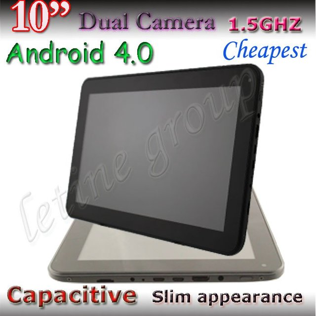 dual camera super slim capacitive wifi allwinner A10 Android 4.0 cheap 10 inch tablet pcs