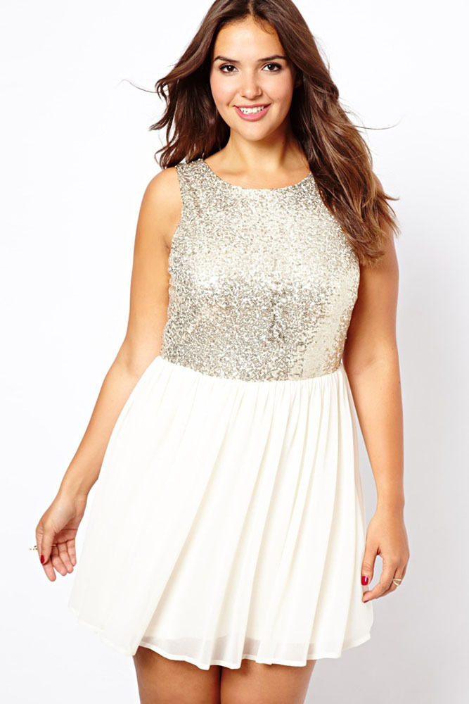 Beauty online 2015 summer dress New Sexy New Look Inspire Sequin Top Chiffon Mini Dress LC2990(China (Mainland))