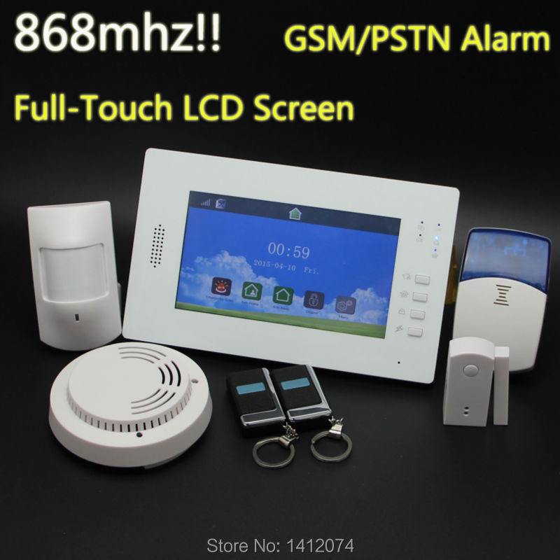 APP operated 7 inch touch screen gsm home alarm system wireless with backup battery used for residential homes and business(China (Mainland))
