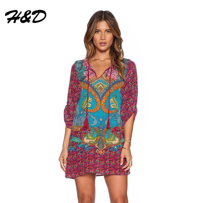Boho For Women Over 70 Women 70 S Boho Vintage Dress V