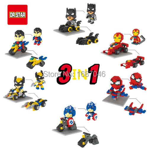 2015 New Arrive DR STAR Avengers/Batman/Spider Man Mini Blocks Assemblage Educational Toys DIY Building Children gifts - TOUCH Toy Co.,Ltd store