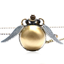 Buy Fashion Wings Antique Steampunk Ball Quartz Pocket Watch Men Woman Children Boys Necklace Pendant Chain Birthday Gifts P514 for $2.85 in AliExpress store