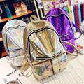 New Arrival Hologram Fashion Laser Backpack Girl School Bag Women Colorful Metallic Silver Laser Holographic Backpack
