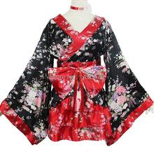 Женщины сакура косплей аниме одежды кимоно из японии горничной косплей костюмы лолита платье принцессы