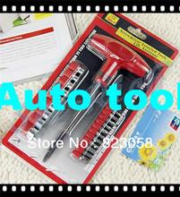Herramienta de Auto T tipo high grade combinadas herramienta destornillador Auto accesorios sujetadores piezas estándar 20 cutter cabeza 1 manija que envía libremente