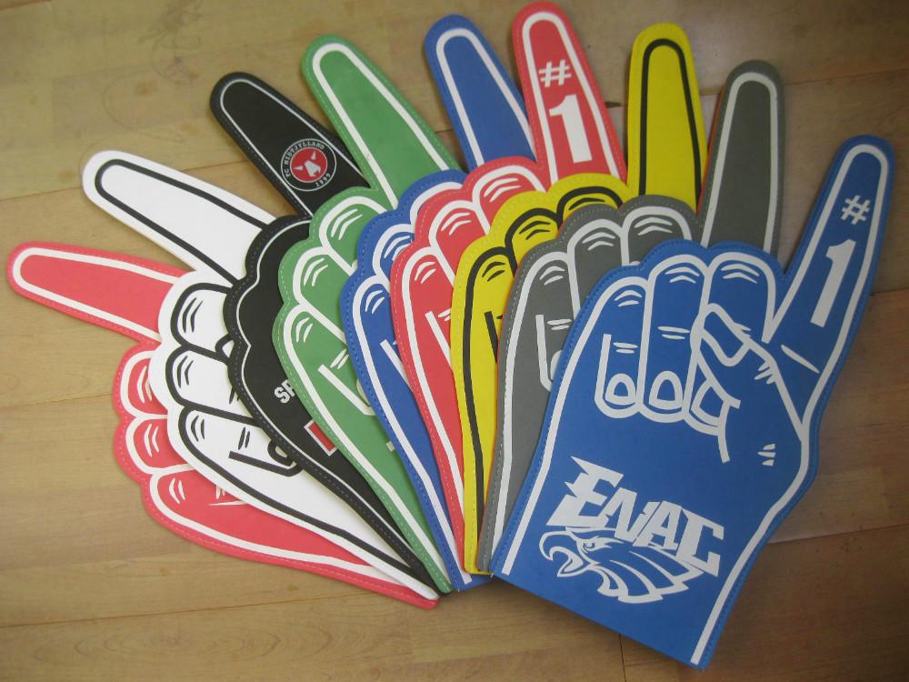 Custom made match fan EVA foam hand finger cheering 100pcs(China (Mainland))
