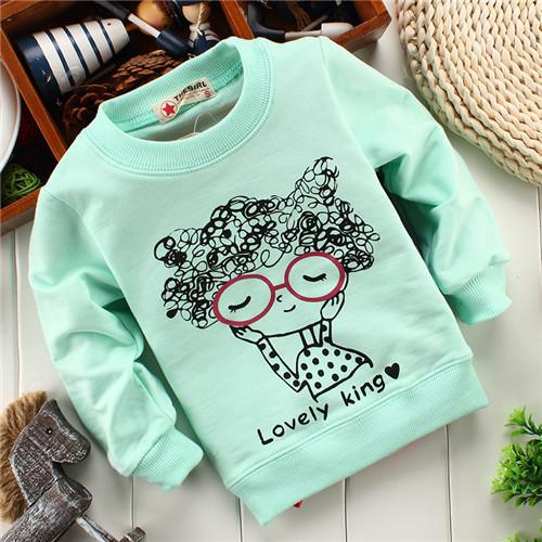 unisex girl lovely king hoody baby children sweatshirts hoodies drop shippig KT248A(China (Mainland))