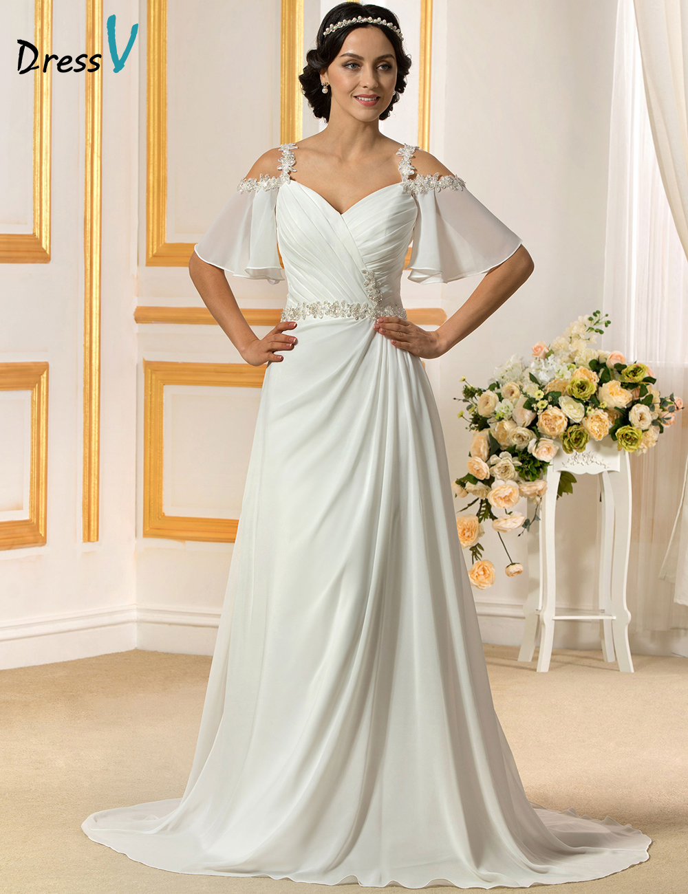 Buy romantic wedding dress 2016 white for Backless wedding dresses for sale