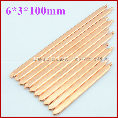 DIY laptop computer brass cooler heat exchanger tube efficient copper pipe 6*3*(100-250)mm [Thermal conductivity liquid within]<br><br>Aliexpress
