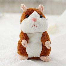 Dropshipping Promoção de 15 centímetros Doce Repita Falar hamster Gravação de Som Falando de Pelúcia hamster kawaii animal Brinquedos(China)