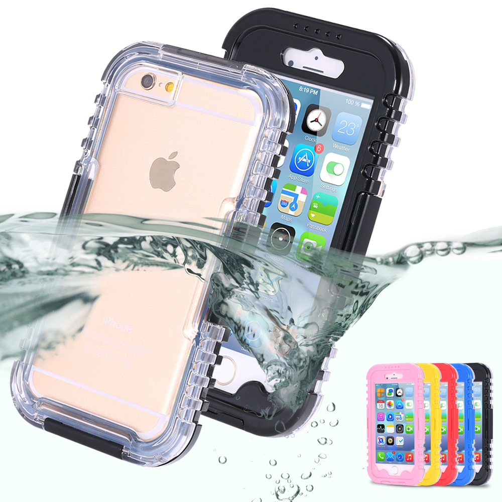 IP-68 Waterproof Heavy Duty Hybrid Swimming Dive Case For Apple iPhone 6 4.7inch 6S Water/Dirt/Shock Proof Phone Bag For iPhone6(China (Mainland))