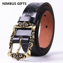 Buy Hot saleing Fashion Wide Genuine leather belt woman vintage Floral Cow skin belts women Top strap female jeans ZD for $9.11 in AliExpress store