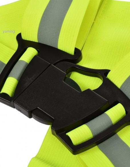 2015 новинка желтый светоотражающий жилет V одежду повышенной видимости ремень безопасности статья печать бесплатная доставка 57