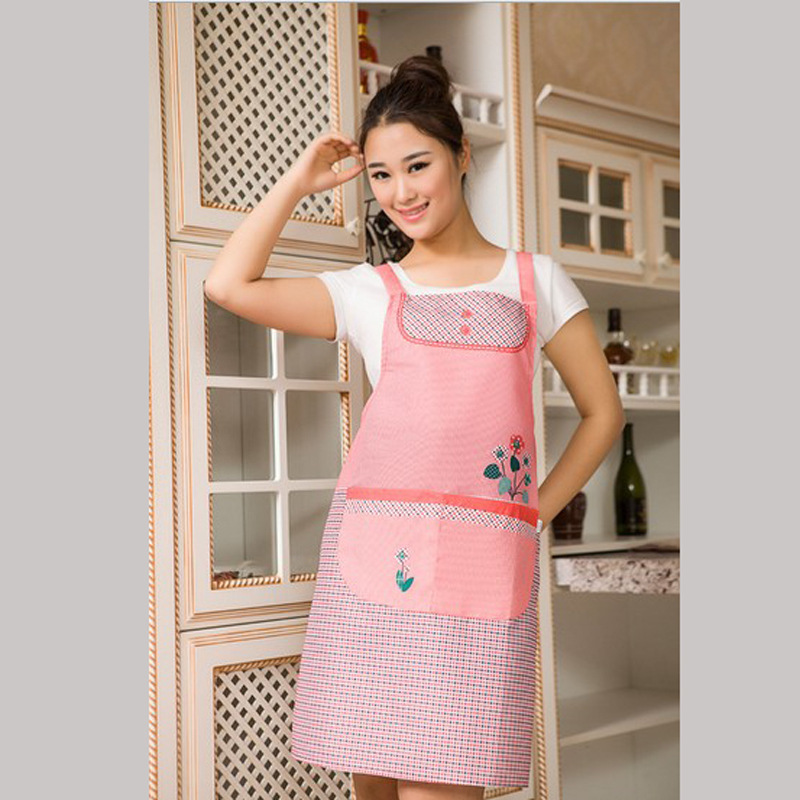 Apron Thickening Double-deck Waterproof Korean Princess Apron Customize Gift Clothes Cafe restaurant uniforms(China (Mainland))