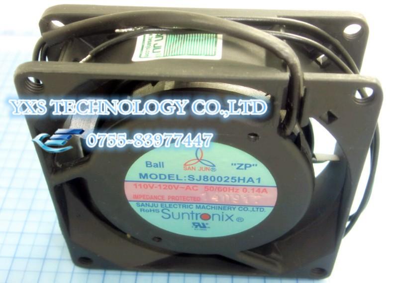SJ8025HA1 or SJ8025HA2 80*80*25MM 110V 220V 380V fan Ball Bearings or oil bearing
