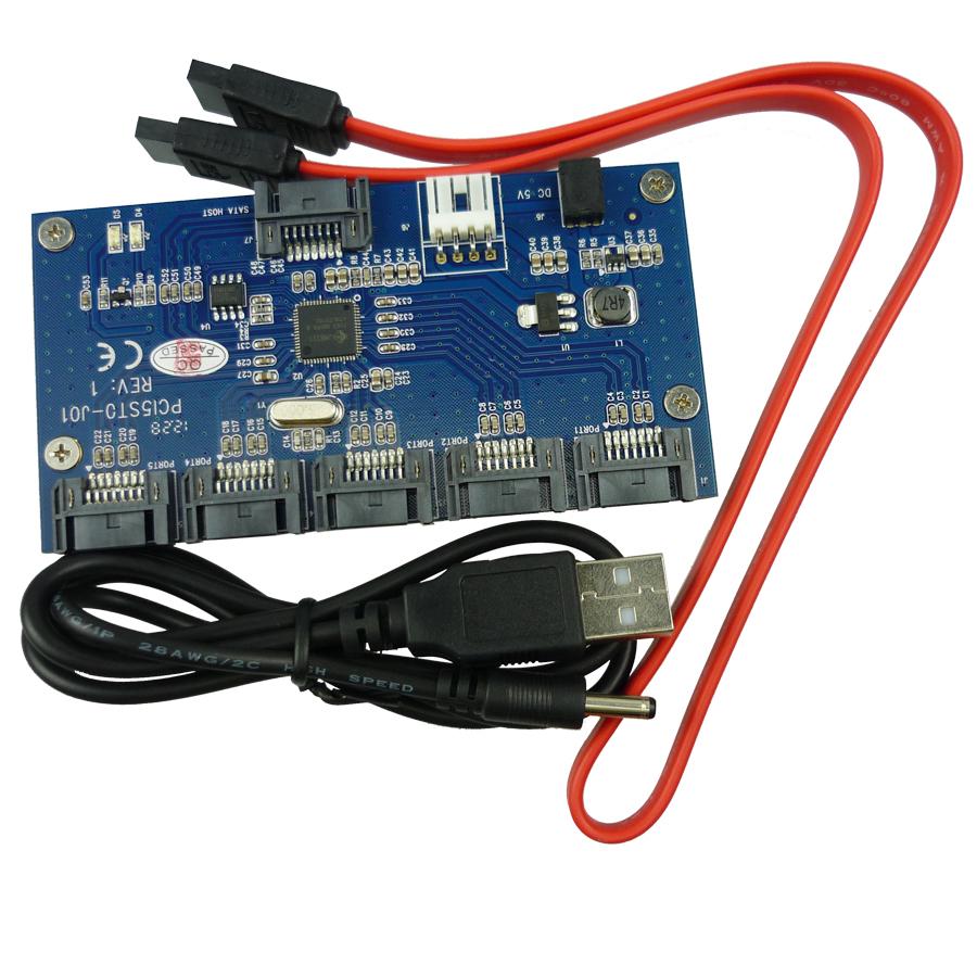 Здесь можно купить  Free shipping multi SATA 1 to 5 Port SATAII / SATA2 Multiplier adapter riser card Free shipping multi SATA 1 to 5 Port SATAII / SATA2 Multiplier adapter riser card Компьютер & сеть