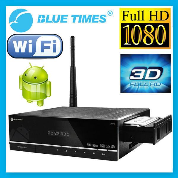 Bluetimes 3548B 3D Android 1080p Blu-ray H.264 MKV Network USB 3.0 Wifi HDMI TV Media Player Free Shipping