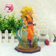 Dragon Ball Z F.Zero DBZ Super Saiyan 3 Goku Effect Anime Cartoon Action Figures Collection Model Toys