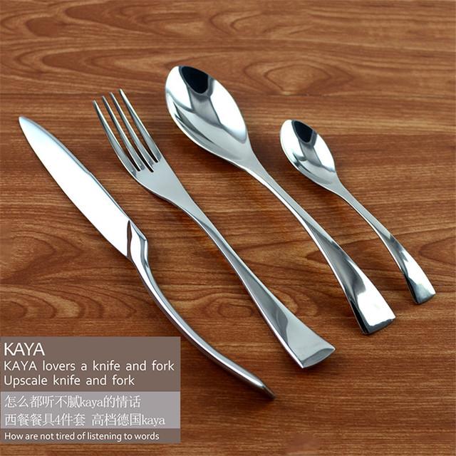 서양 음식 칼 팩 식기 세트 스테인레스 스틸 주요 나이프 포크 ...