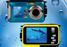 2015 new  hot   Dual Screen W8D Waterproof Camera 10M 16XZoom Underwater Shockproof Digital Camera 2.7inch LCD DisplayCameras