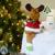 Indoor Christmas big Table Decoration long-leg Santa Claus Snowman Deer