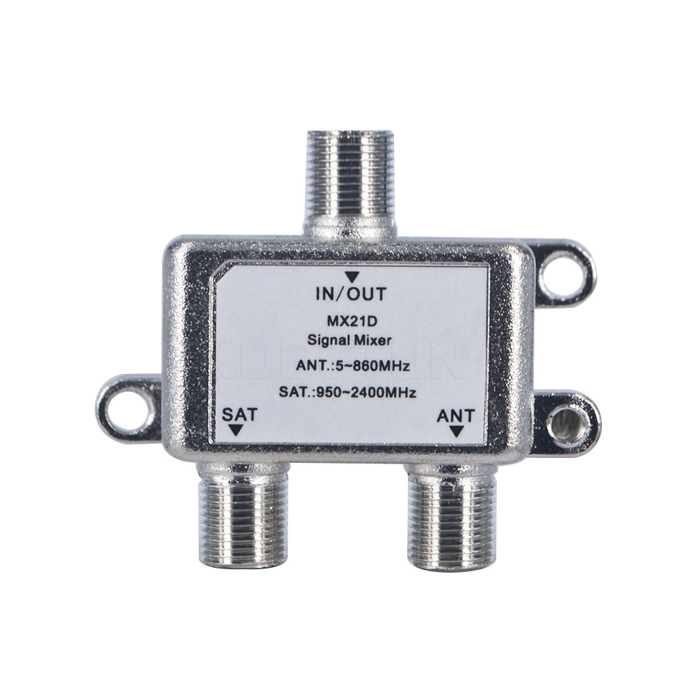 2 In 1 Dual-use 2 Way Port TV Signal Satellite Sat Coaxial Diplexer Combiner Splitter Combiners Cable Switch Switcher(China (Mainland))