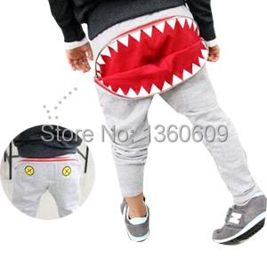 [해외]Fashion big mouth design kids harem pants korean sty..