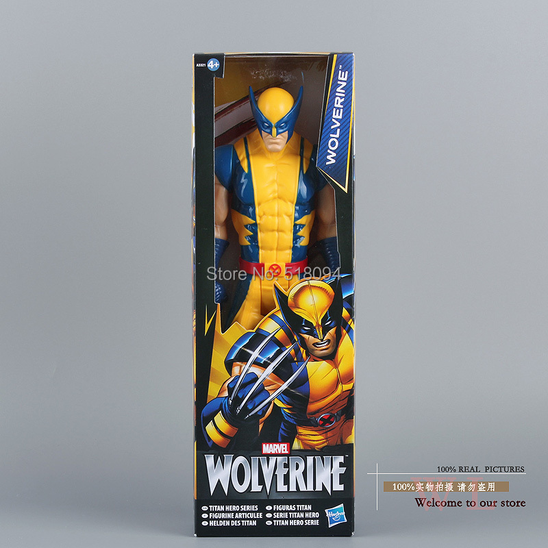 "Гаджет  Free Shipping Marvel Super Hero X-men Wolverine PVC Action Figure Collectible Toy 12""30CM HRFG184 None Игрушки и Хобби"
