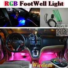 2.4G Wireless Control 360 RGB Color Neon Glow Interior UnderDash Foot Accent Ambient Light For Nissan Xterra / Paladin / Roniz(China (Mainland))