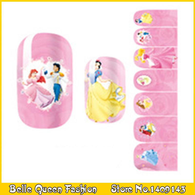 Nail Art Sticker Full Cover Water Transfer Foil Nail Sticker Nail Stickers Decals Snow White K1038(China (Mainland))