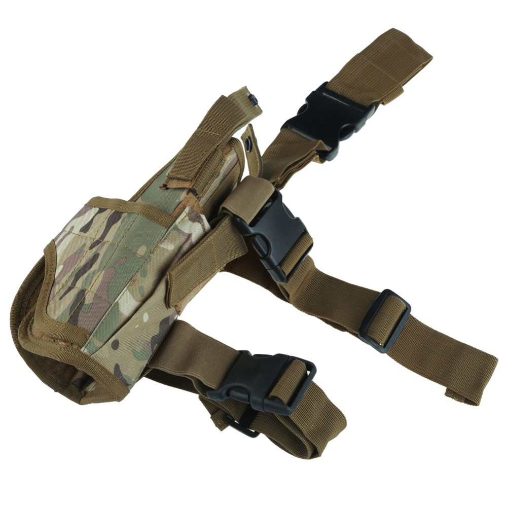 Tactical Military Hunting W Mag Pouch Right Hand For Pistol Gun Drop Leg Thigh Holster Pouch