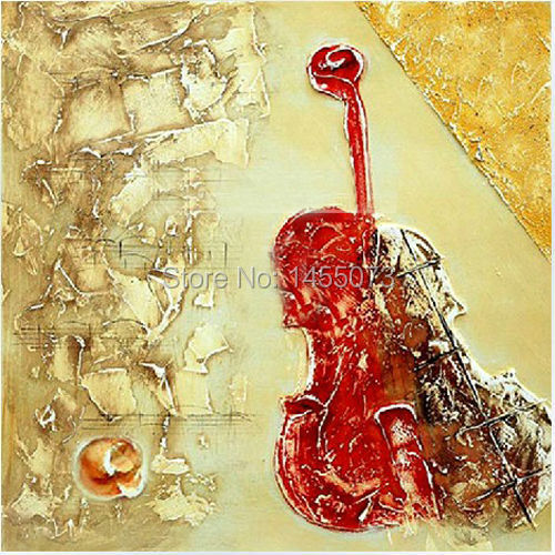Dafen oil painting on canvas decorative painting abstract oil painting on canvas thick pigment musical instrument home decor(China (Mainland))