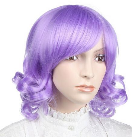 Livraison gratuite nouvelle sexy pour femme bouclés pourpre naturel cheveau perruques(China (Mainland))