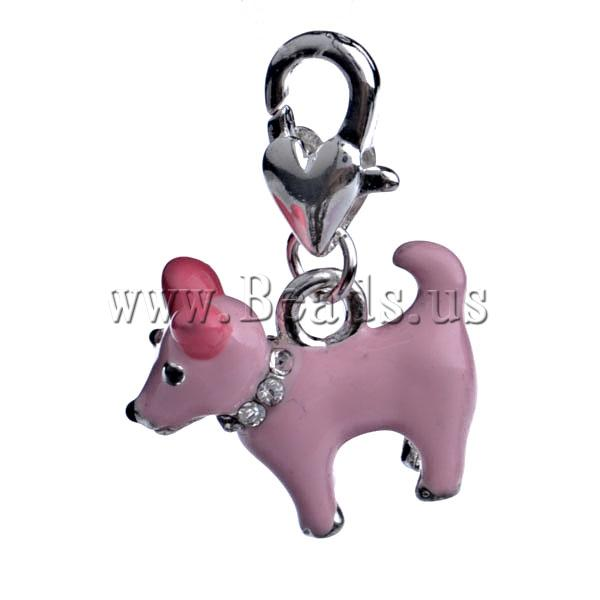 !!Zinc Alloy Lobster Clasp Charm,Supplies Jewelry, Sheep, enamel, pink, nickel, lead & cadmium free - Be U_lady store