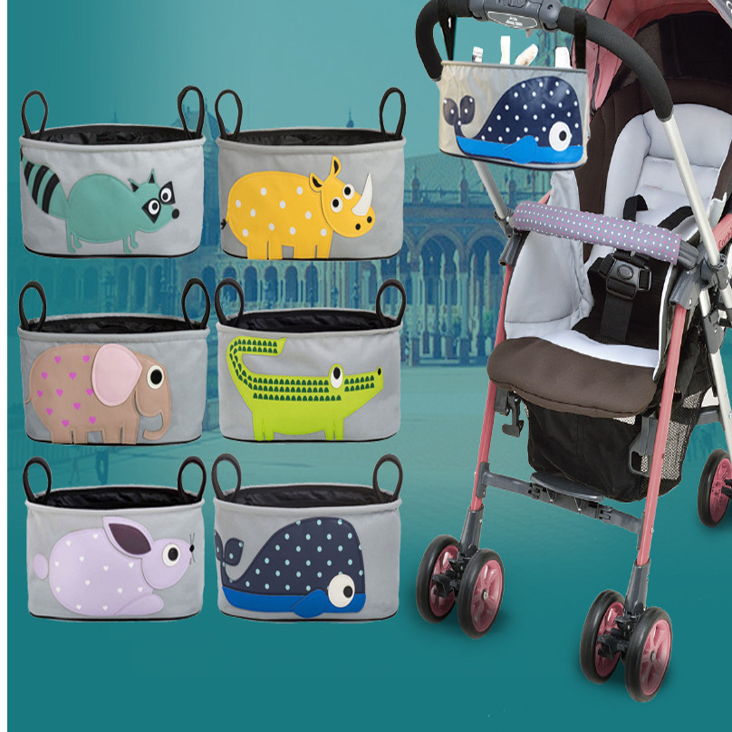 2016 new fashion children kids cartoon bags specialized for mommy hanging on strollers mother pouch for baby(China (Mainland))