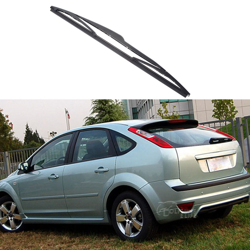 14'' Car Soft Rubber Rear Rain Window WindShield Wiper Blade Decoration For Ford Focus 2 Hatchback 2005 2006 2007 2008 2009 2010(China (Mainland))