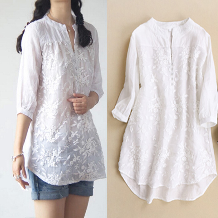 Aliexpress.com : Buy new women blouses Organza embroidery