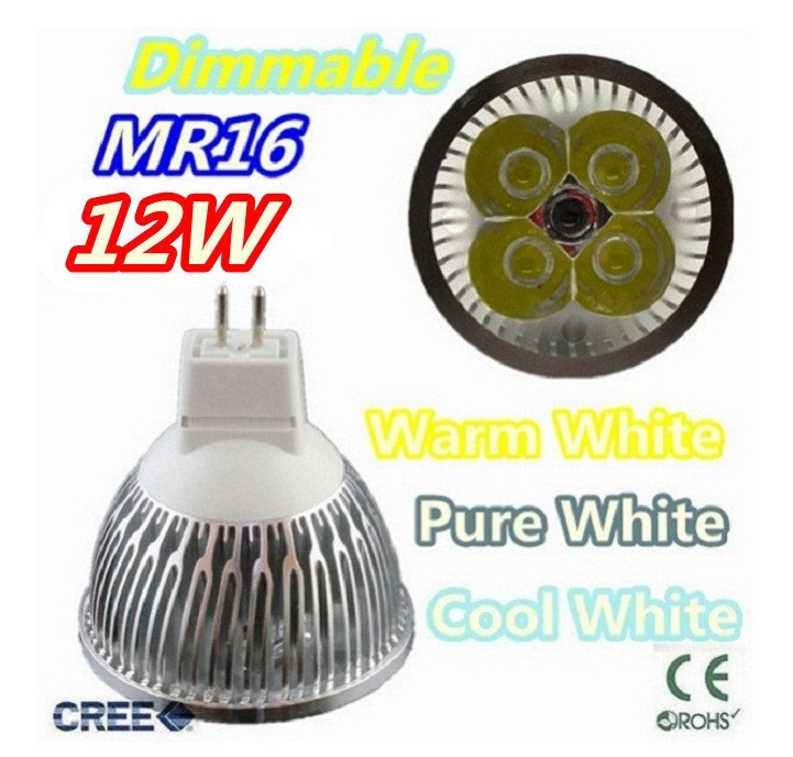 Super low price time buying 30pcs/lot Dimmable LED Lamp MRr16 4X3W 12W LED Light Bulbs High Power LED Spotlight(China (Mainland))