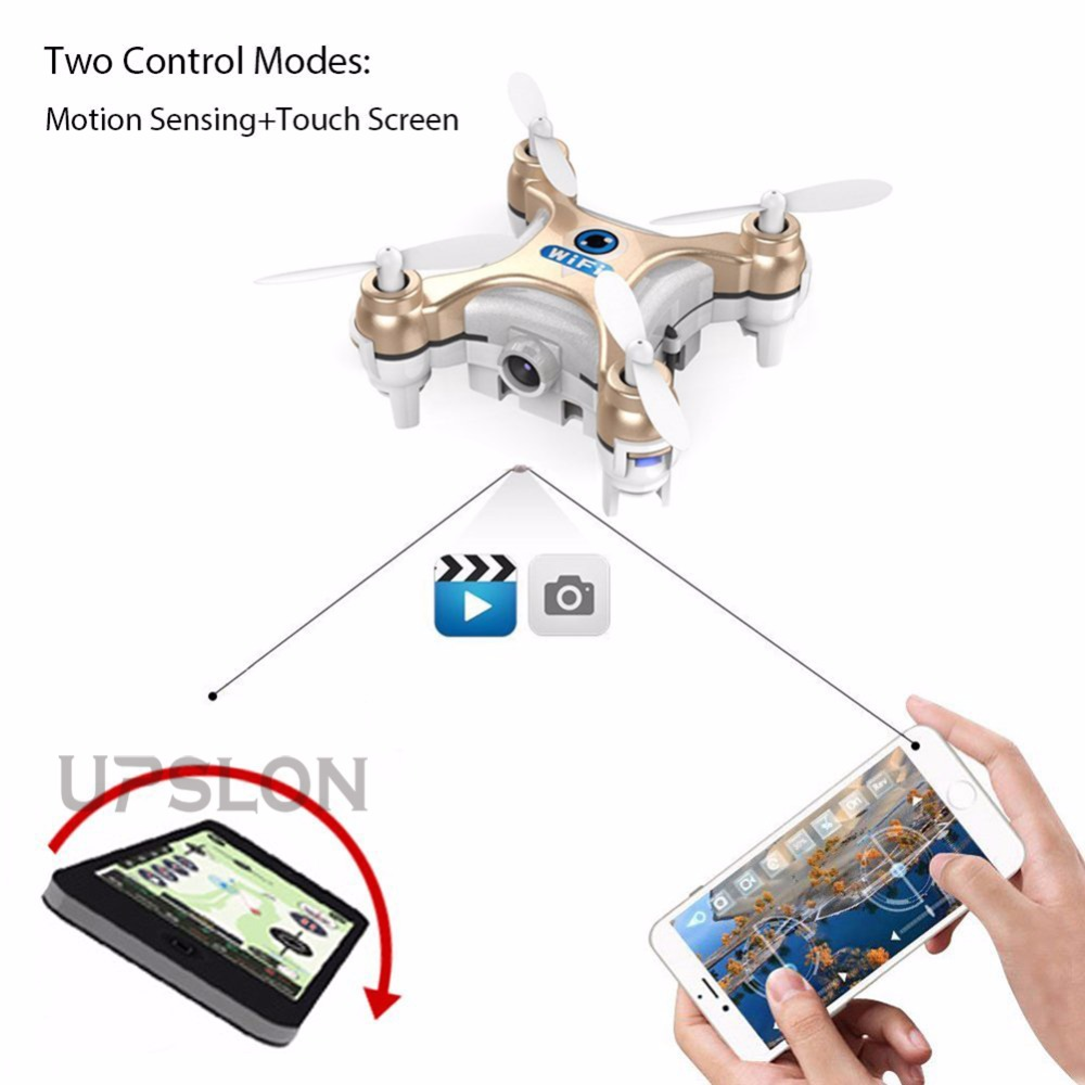 2016 new Control By Cell Phone RC Quadcopter CX10W Wifi FPV 0.3MP Camera LED 3D Flip 4CH Version Mini Drone Helicopter Gift(China (Mainland))