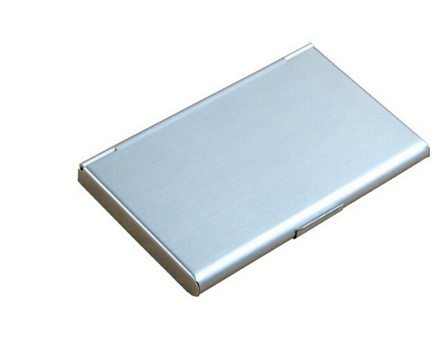 Hot Business ID Credit Card Case Metal Fine Box Holder Stainless Steel Pocket(China (Mainland))