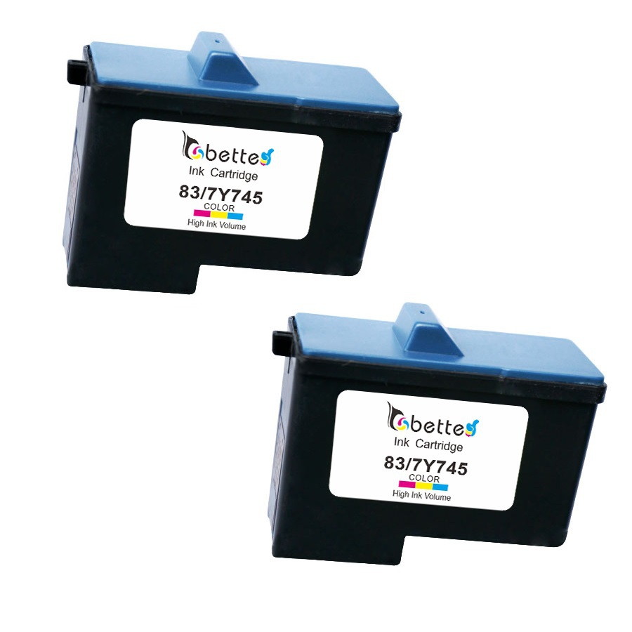 2PK, Ink Cartridge for Lexmark 83 / Dell 7Y745 Printer X5100 X5150 X5190 X5200 X6100 X6150 X6170 A922 A924 A940 A942 A944 A946(China (Mainland))