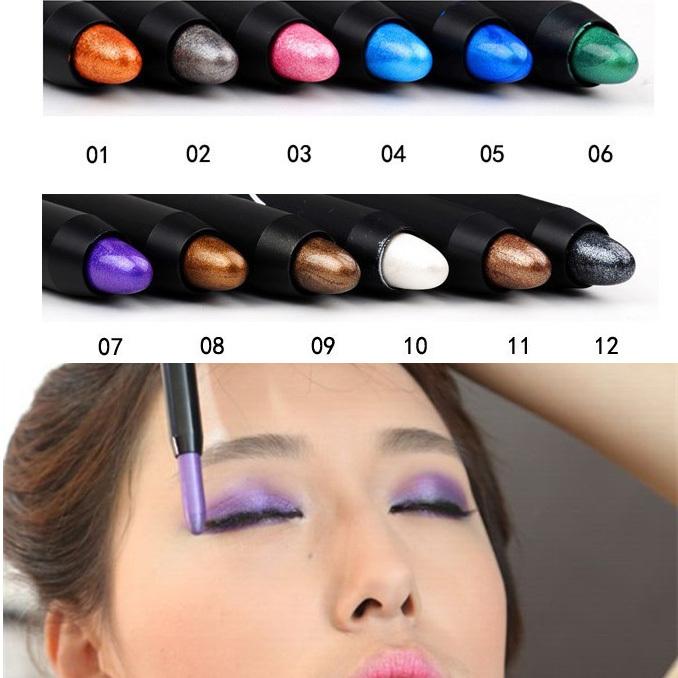 beauty eyeshadow Cosmetics 12 colors Optional Waterproof Eye Jumbo Pencil make eye shadow 024MR55MR - sun&moon boutique store